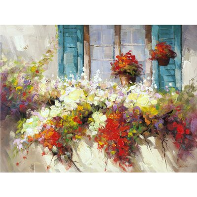 Revealed Artwork Window Box Original Painting on Wrapped Canvas by Yosemite Home Decor
