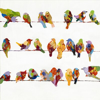 Revealed Artwork Birds on a Wire II Original Painting on Wrapped Canvas by Yosemite Home ...