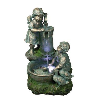 Polyresin Sculptural Fountain by Yosemite Home Decor