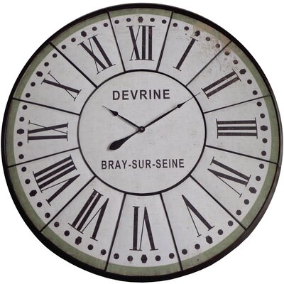 yosemite home decor oversized 48 wall clock reviews wayfair. Black Bedroom Furniture Sets. Home Design Ideas