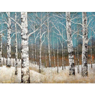 Revealed Artwork White Forests Painting Print on Wrapped Canvas by Yosemite Home Decor