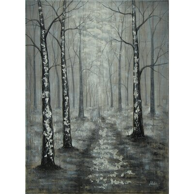 Silver Forest Scene Painting by Yosemite Home Decor