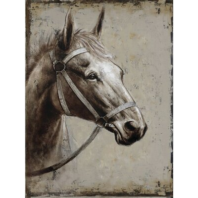 Head Strong Painting on Wrapped Canvas by Yosemite Home Decor