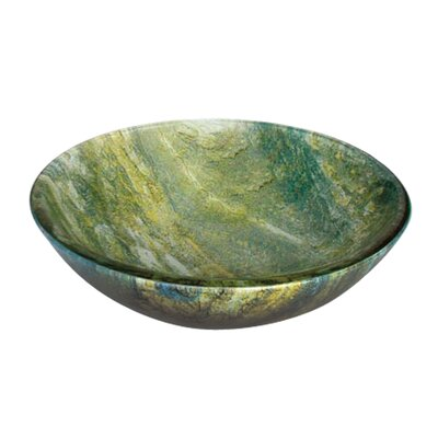Ocean Green Round Glass Bathroom Sink Product Photo