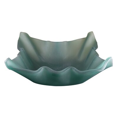 Jade Shell Glass Bathroom Sink Product Photo