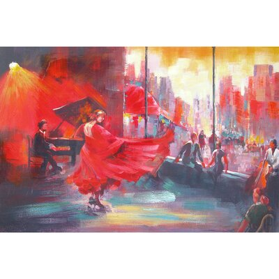 Revealed Art Flamenco Original Painting on Wrapped Canvas by Yosemite Home Decor