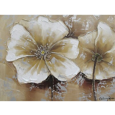 Revealed Art Full Bloom Original Painting on Canvas by Yosemite Home Decor