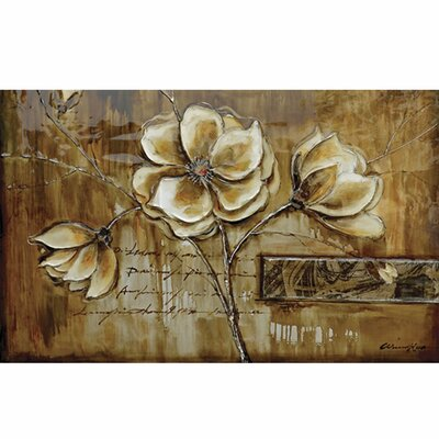 Yosemite Home Decor Revealed Art Bloom of a Plant II Original Painting on Wrapped Canvas