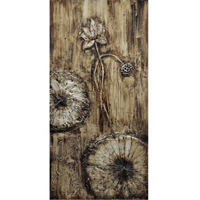 Revealed Art Floweret I Original Painting on Wrapped Canvas by Yosemite Home Decor