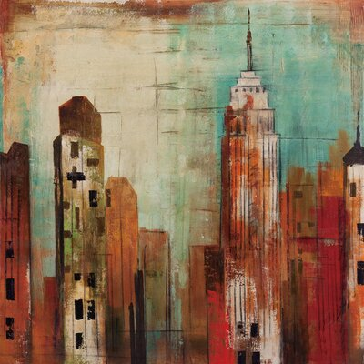 New Revealed Art Metro Heights II Original Painting on Wrapped Canvas by Yosemite Home Decor ...