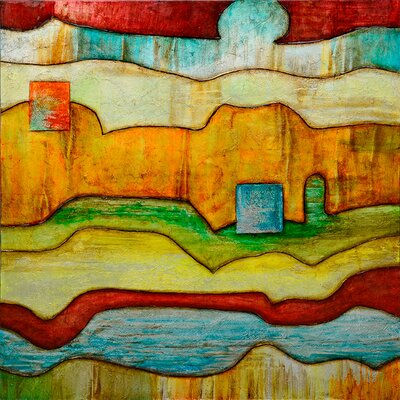 Revealed Art Color and Line V Original Painting on Wrapped Canvas by Yosemite Home Decor ...