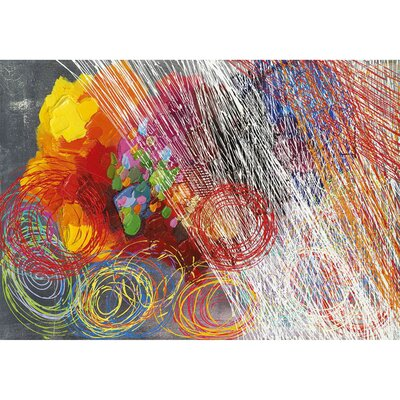 Revealed Artwork Cyclonic Abstraction II Original Painting on Wrapped Canvas by Yosemite Home Decor