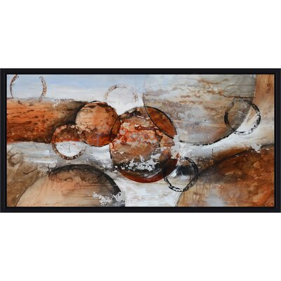 Revealed Artwork Red Planets Painting Print on Wrapped Canvas by Yosemite Home Decor