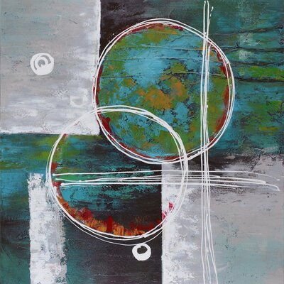 Revealed Artwork Circles Divided Painting Print on Wrapped Canvas by Yosemite Home Decor