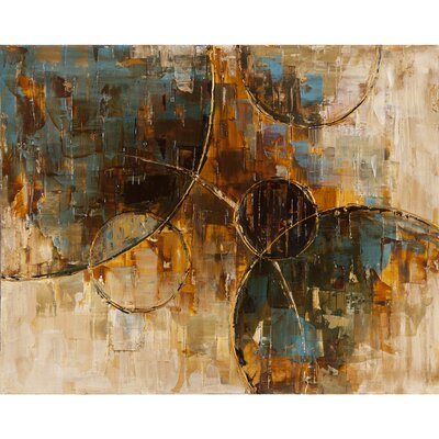 Revealed Artwork Floating Away II Original Painting on Wrapped Canvas by Yosemite Home Decor