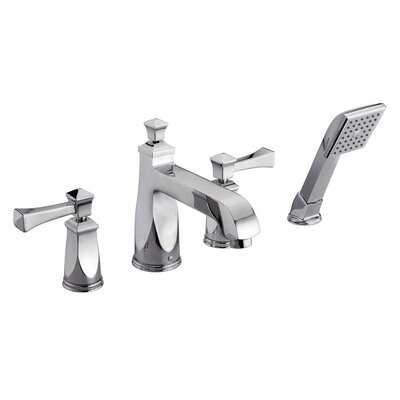 Roman Two Handle Deck Mount Tub Faucet Trim with Hand Held Shower Product Photo