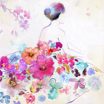Revealed Artwork Dressed In Flowers II Painting Print on Wrapped Canvas by Yosemite Home Decor ...