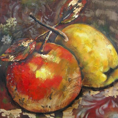 Revealed Artwork Ripened Fruit II Original Painting on Wrapped Canvas by Yosemite Home Decor