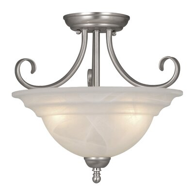Babylon 3 Light Semi Flush Mount Product Photo