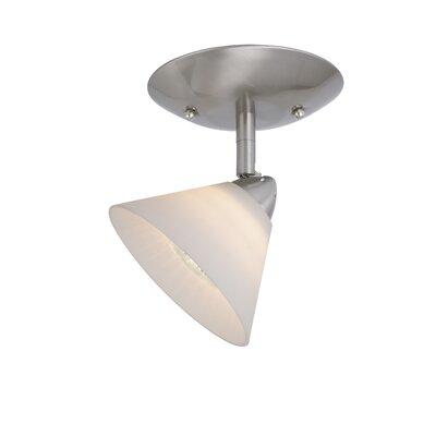 Vaxcel Milano Single Ceiling Light in White Glass
