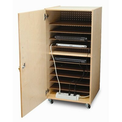 Whitney Brothers 10-Compartment Laptop Storage Cart