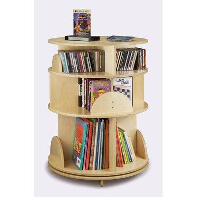Whitney Brothers 3 Shelf Multimedia Carousel