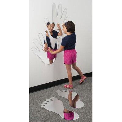"""Whitney Brothers 24"""" H x 22"""" W Big Hands Mirror"""