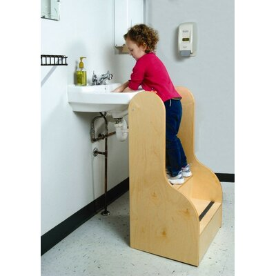 Whitney Brothers 2-Step Birch Laminate Step Up Tall Stairs Children's Step Stool with 200 lb. Load Capacity