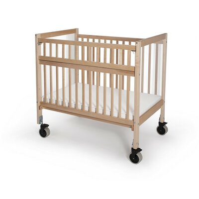 Whitney Brothers Clear View Folding Rail Evacuation Convertible Crib with Mattress