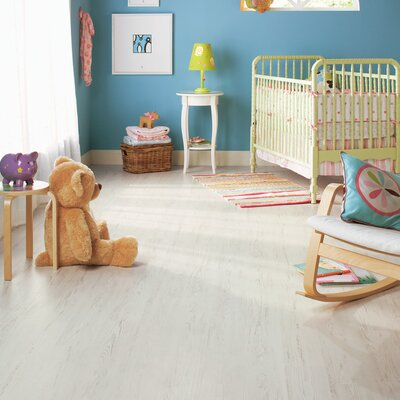 """Quick-Step Eligna 6"""" x 54"""" x 8mm Pine Laminate in White Brushed Pine"""