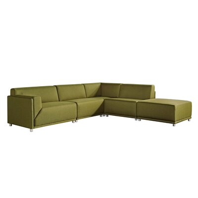 Moderna Right Facing Sectional by Diamond Sofa