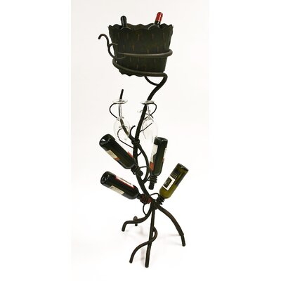 ArtDeco 4 Bottle Wine Rack by Creative Creations