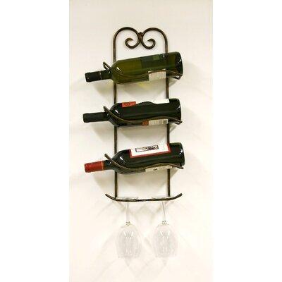 Creative Creations Xiafeng 3 Bottle Wall Mounted Wine Rack