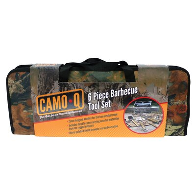 6 Piece Camo Grilling Tool Set with Case by Mr. Bar-B-Q