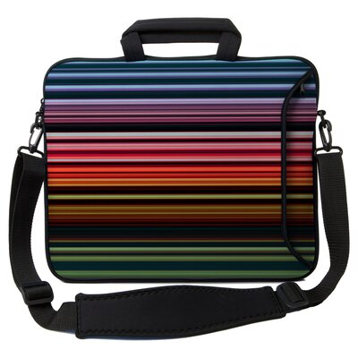 Executive Sleeves Retro Stripes PC Laptop Bag by Designer Sleeves
