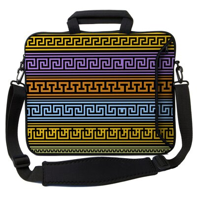 Executive Sleeves Greek Patterns PC Laptop Bag by Designer Sleeves