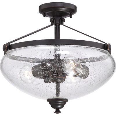 Laurel 3 Light Semi Flush Mount Product Photo