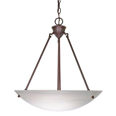 Pendant with Alabaster Bowl Glass in Old Bronze by Nuvo Lighting