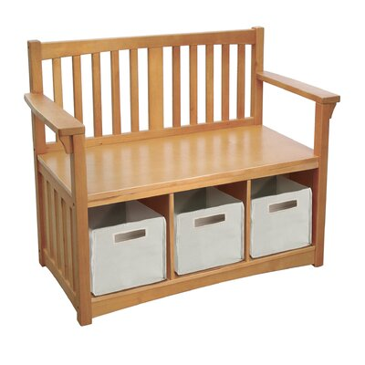 New Mission Wood Storage Bench by Guidecraft