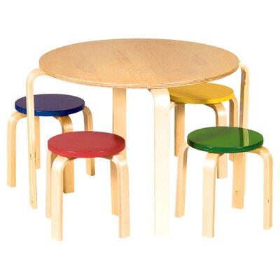 Guidecraft Nordic Kids 5 Piece Table & Stool Set