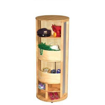 Guidecraft Natural Dress-Up Carousel Armoire