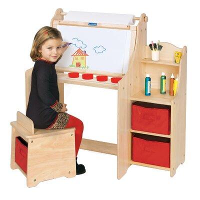 Guidecraft Art Equipment 36″ W Art Desk Set with Storage Storage G51032