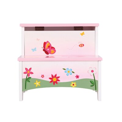 Butterfly Buddies 2-Step Manufactured Wood Storage Step Stool with 200 lb. Load Capacity  by ...