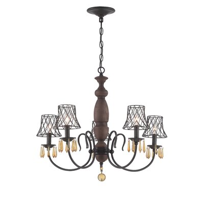 Madelyn 5 Light Candle Chandelier by Varaluz