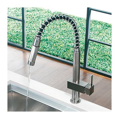 Teramo One Handle Single Hole Spiral Kitchen Faucet Product Photo