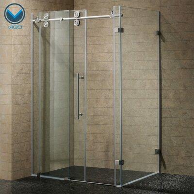 "32"" W x 32"" D x 73.38"" H Sliding Door Frameless Shower Enclosure Product Photo"