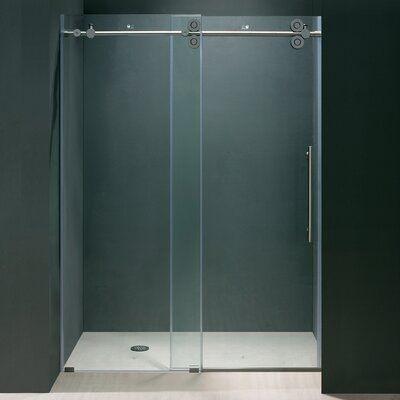 "74"" x 48"" Sliding Shower Door with Reversible Side Opening Product Photo"