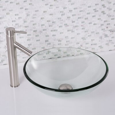Glass Vessel Bathroom Sink Product Photo