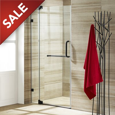 "Pirouette 72"" x 28.75"" Pivot Frameless Shower Door Product Photo"