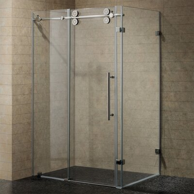 "32"" W x 32"" D x 73.38"" H Sliding Door Frameless Shower Enclosure Product Photo"